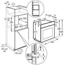 Духовой шкаф газовый ZANUSSI ZOG 521317 X