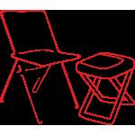 Стулья и кресла раскладные