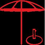 Зонты садовые, подставки для садовых зонтов