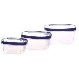 Набор квадратных контейнеров для хранения продуктов Helfer 45-169-008