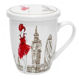 """Чашка заварочная Keramia """"Девушка в Лондоне"""" 21-279-005"""