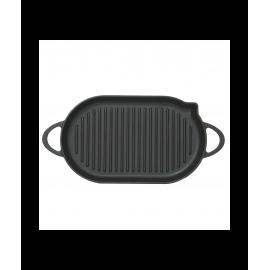 Чугунная овальная сковорода Perfelli 5690 33х20 см.