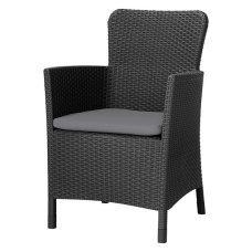 Кресло пластиковое Allibert (Голландия) Miami DC темно-серое