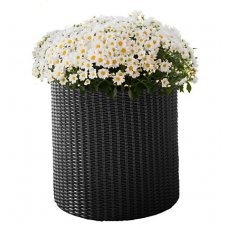 Горшок для цветов Keter (Израиль) Cylinder Planter Small серый