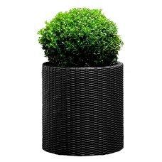 Горшок для цветов Keter (Израиль) Cylinder Planter Large серый