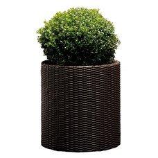 Горшок для цветов Keter (Израиль) Cylinder Planter Large коричневый