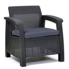 Кресло пластиковое Allibert (Голландия) Corfu Duo серое