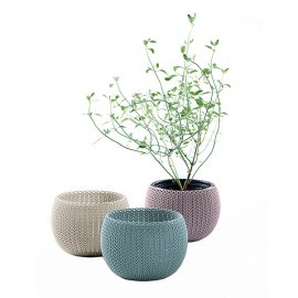 Набор горшков для цветов Keter (Израиль) Cozies Herb Pot фиолетовый 3 шт
