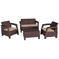 Комплект садовой мебели Keter (Израиль) Bahamas коричневый