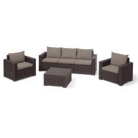 Комплект садовой мебели Allibert (Голландия) California 3 seater коричневый