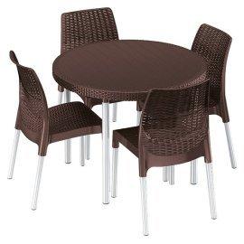 Комплект садовой мебели Keter (Израиль) Jersey set коричневый