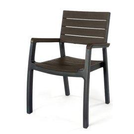 Стул пластиковый Keter (Израиль) Harmony armchair серо-коричневый