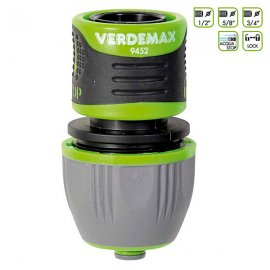 """Соединитель для полива Verdemax (Италия) 1/2""""-5/8""""-3/4"""" с перекрыванием воды"""