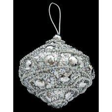 """Ёлочное украшение """"Юла 3"""" с кристаллами"""