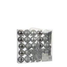 Елочные шарики House of Seasons оттенки серого, комплект 33 шт