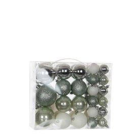 Елочные шарики House of Seasons оттенки серого, комплект 46 шт