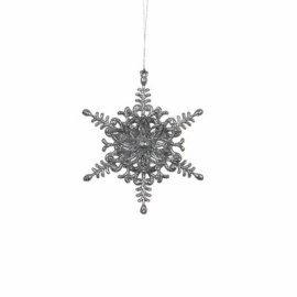 """Украшение декоративная """"Звезда шестиугольная"""" Christmas House (Голландия), серый"""