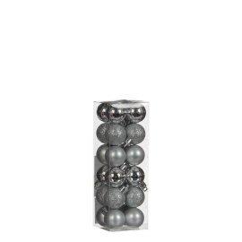 Елочные шарики House of Seasons серые, комплект 24 шт