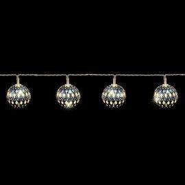 "Гирлянда Luca Lighting (Голландия) ""Серебристые шарики"" теплый-белый, 1.35 м"