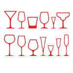 Наборы бокалов, стаканов, рюмок