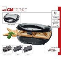 3в1 вафельница-сендвичница-гриль Clatronic ST/WA 3490