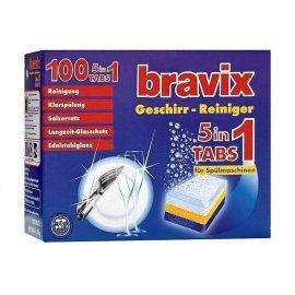 Таблетки для посудомоечных машин Bravix 5в1 100 шт (4000317150029)