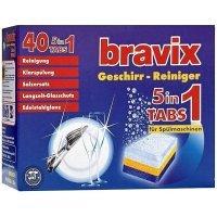 Таблетки для посудомоечных машин Bravix 5в1 40 шт (4000317150029)